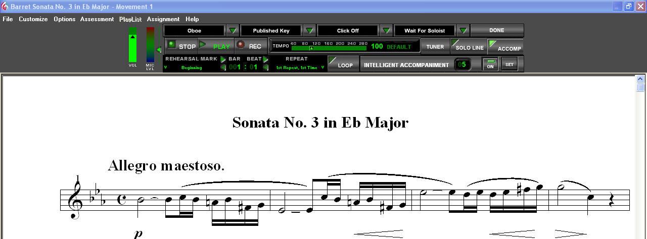 SmartMusic 10.2 Music on Screen