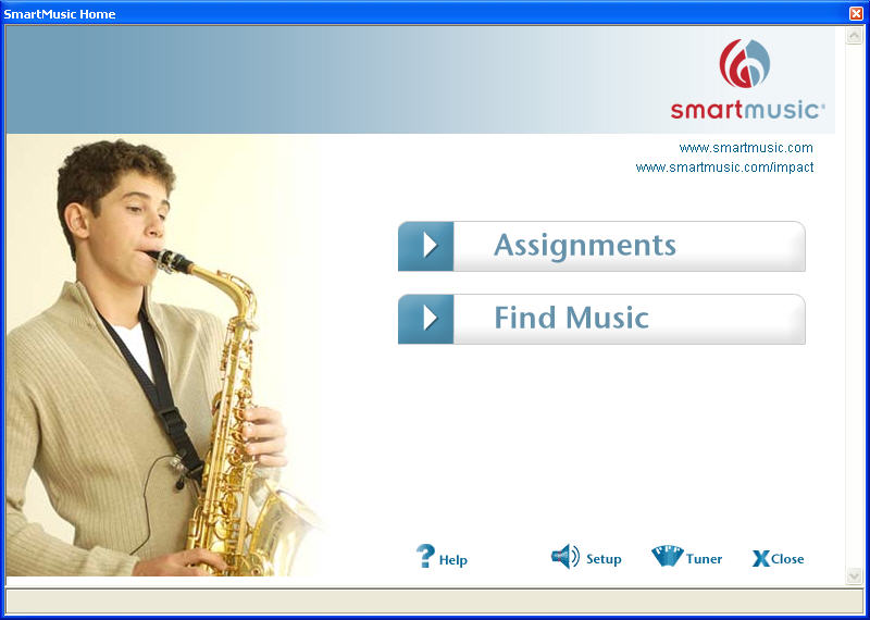SmartMusic 10.2 StartupScreen
